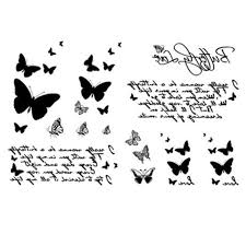 yeeech temporary tattoos sticker for butterfly