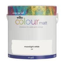 wilko matt emulsion paint moonlight white 2 5l at wilko com