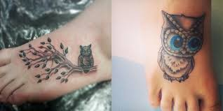 8 cute owl tattoos on foot everything about tattoos