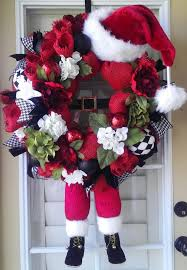 Decorating Grapevine Wreaths For Christmas by Christmas Wreath Santa Wreath Santa With By Offthewallkreations