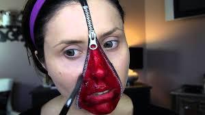 zip me up trucco halloween youtube