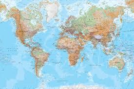 Wold Map Physical World Map Mural Wallpaper Murals Wallpaper