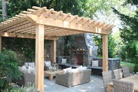 Gazebos For Patios Amish Gazebos Patio Traditional With Fireplace Patio Pergola