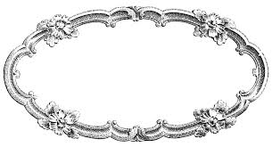 Old Fashioned Picture Frames Oval Frame Cliparts Clip Art Library