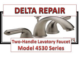 Delta Tub Faucet Repair Instructions Bathroom How To Fix Leaky Handle Delta Faucet Model 4530 Series