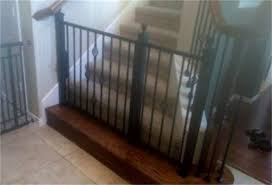Baby Gate For Bottom Of Stairs With Banister North Dallas Wrought Iron Doors Photo Gallery