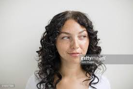 hair i woman s chin sideways sideways glance stock photos and pictures getty images