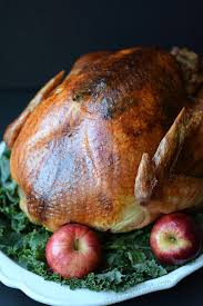 herb roasted turkey cooking with curls