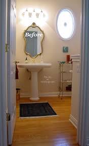 Bathroom Baseboard Ideas Before U0026 After Tall Guest Half Bathroom The Joy Of Moldings Com