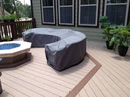 Patio Chairs Covers Curved Sectional Cover Outdoor Pit And Area Pinterest