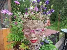 Unique Plant Pots Styrofoam Heads Garden Pots Cute And Unique Hometalk