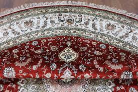 elegant red 9 u0027 round shah abbasi design kashan hand knotted silk