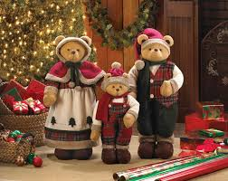 christmas decorations u2013 holiday family bear décor for your home