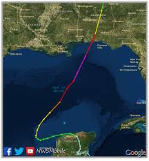 Panhandle Florida Map by Hurricane Opal October 4 1995