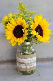 table centerpieces with sunflowers celebration flair summery sunflowers michelle james amy