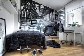 coole jugendzimmer ideen ideen fürs jugendzimmer junge schwarz weiß tapete wanddeko