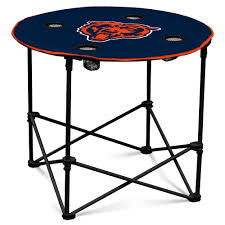 chicago bears portable folding polyester round tailgate table