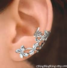ear cuffs for pierced ears 28 silver cuff earrings for pierced ears berry leaf ear cuff