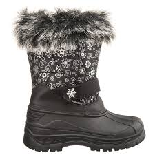 Rugged Bear Jackets Rugged Bear Snowflake Print Pac Boots For Little And Big Girls