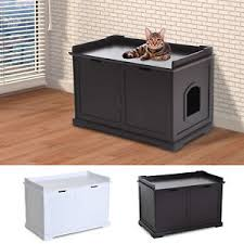 litter box end table cat hidden litter box enclosure bench hall end table pet kitty