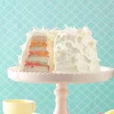 Angel Decorated Cake Rainbow Sherbet Angel Food Cake Recipe Taste Of Home