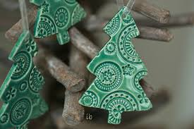 christmas tree ornaments lace ceramic christmas ornaments