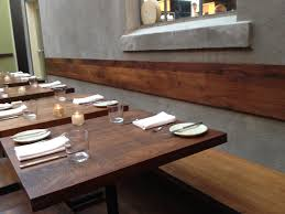 awesome wooden breakfast table decor and modern kitchen bench