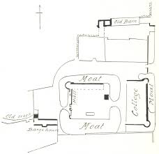 caister castle 1897 a plan of the castle from j d