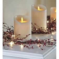 battery lighted fall garland plow hearth battery operated lighted holiday garland reviews