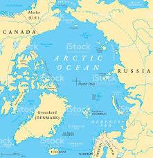 Oceans Map Arctic Ocean Map Stock Vector Art 540201336 Istock