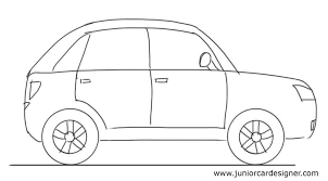 car drawings side view eskay