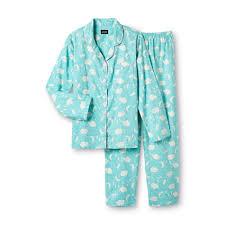 joe boxer s 2 flannel pajama set sweet dreams clouds