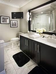bathrooms with black vanities remarkable black bathroom vanity with white marble top gallery