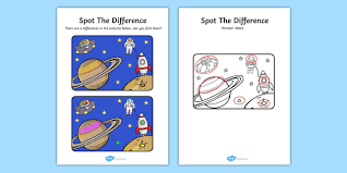 spot the difference activity spot difference space