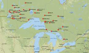 Map Of Ontario Outfitter Directory Line On Fishing