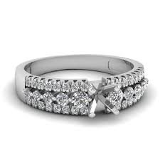 semi mount engagement rings ring settings without center fascinating diamonds