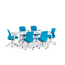 Office Furniture Meeting Table Series A Conference Table White Legs Modern Office Furniture