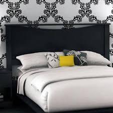 Bed With Headboard by Laguna Full Platform Bed With Headboard Black Woodgrain Walmart Com