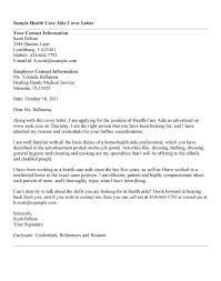 elegant sample cover letter for health care aide 74 for simple