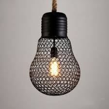 Hanging Light Bulb Pendant Loft Hanging Lamp Black Iron Edison Bulb Pendant Light