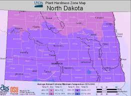 Weather Zones For Gardening - map of usda growing zones in north dakota