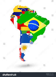 World Map With Flags South America In World Map Ins Ssrenterprises Co