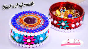 how to make storage boxes from old waste bangles best out of