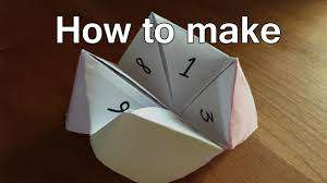 how to make fortune tellers out of paper fortune teller origami