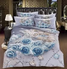 copriletti romantici 3d blue copripiumino biancheria da letto set copriletti