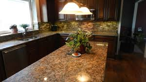 giallo fiorito granite with oak cabinets canton kitchen traditional kitchen detroit by michigan