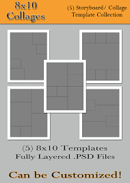 items similar to 8x10 collages 5 custom photo storyboard