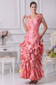 prom dress with embroidered flowers floral applique prom dress