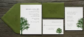 Tree Wedding Invitations Postscript Brooklyn