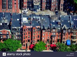 boston massachusetts elegant 19th century brick town houses on